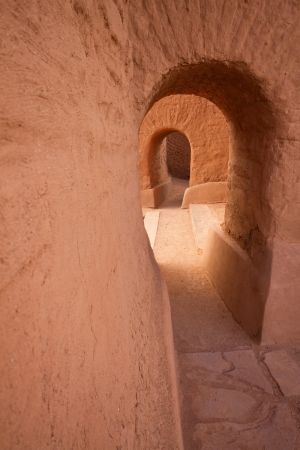 adobe pueblo: Doorway, Pecos National Historic Park
