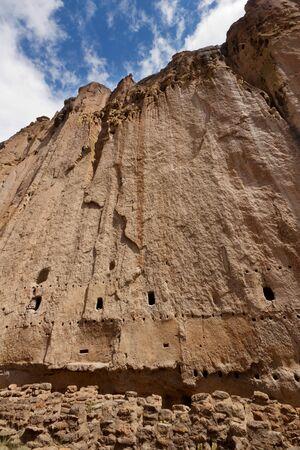 Casa Larga, Bandelier National Monument Foto de archivo