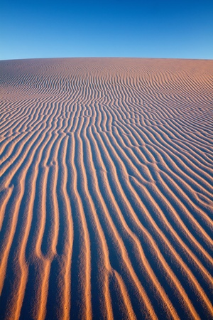 chihuahua desert: Sunset at White Sands National Monument