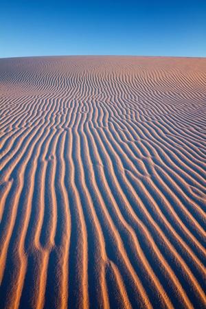 white sands national monument: Sunset at White Sands National Monument