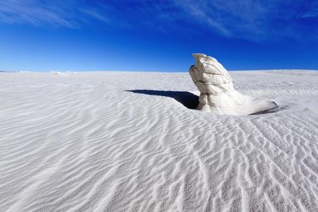 white sands national monument: Gypsum Pinnacle, White Sands National Monument Stock Photo