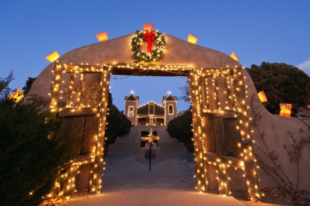 El Santuario de Chimayo Christmas Stock Photo