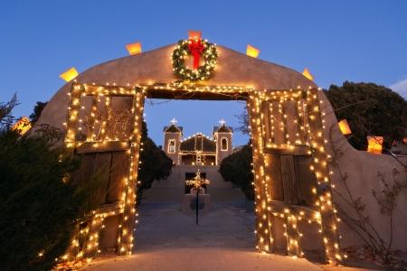 El Santuario de Chimayo Christmas 版權商用圖片