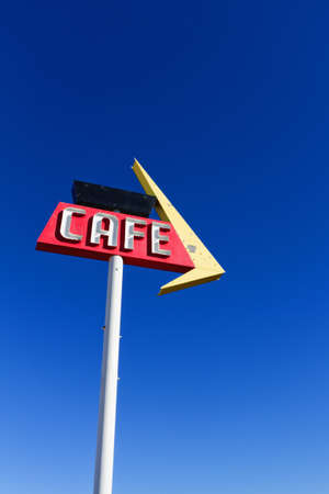 Cafe Sign on Historic Route 66 photo