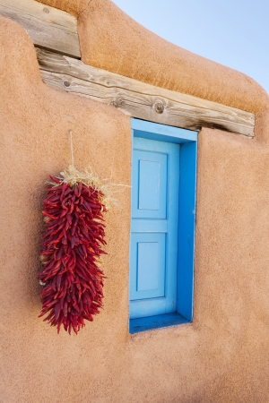 Southwestern adobe window