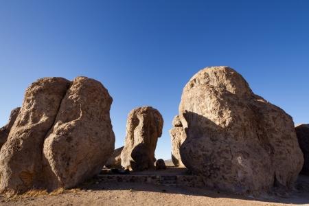 Large sculptured rock formation, City of Rocks State Park, NM.