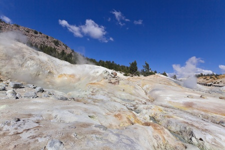 hydrothermal: Bumpass Hell - the hydrothermal area in Lassen Volcanic National Park, CA