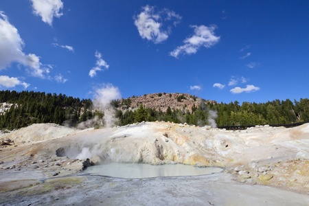 Bumpass Hell - the hydrothermal area in Lassen Volcanic National Park, CA