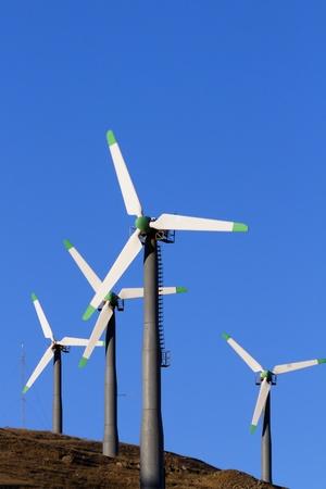 livermore: Wind Turbines in Altamont Pass Wind Farm, California