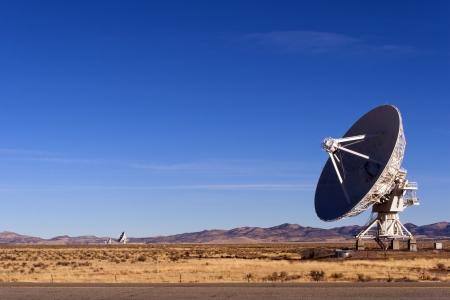 Radio Telescope at Very Large Array near Socorro, New Mexico. Stock Photo
