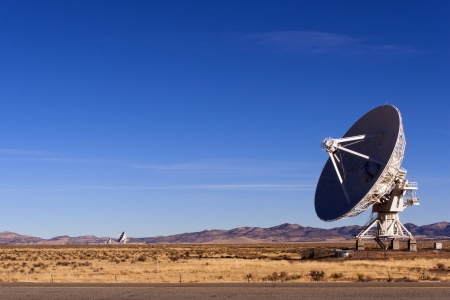 radio telescope: Radio Telescope at Very Large Array near Socorro, New Mexico. Stock Photo