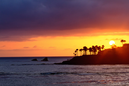 Beautiful Sunset at Laguna Beach, California  photo