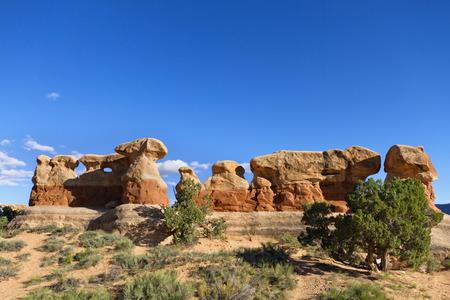 escalante: Sandstone rock formation at Devil