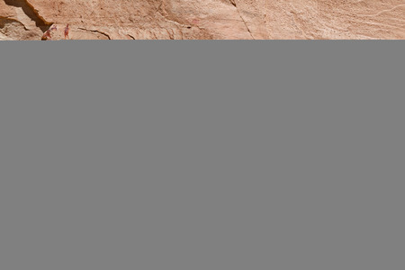 peinture rupestre: Grands Pictoraphs Gallery � Horseshoe Canyon Parc national de Canyonlands UT. Ces figures anthropomorphes Lifesize sont appel�s Barri�re Canyon style.