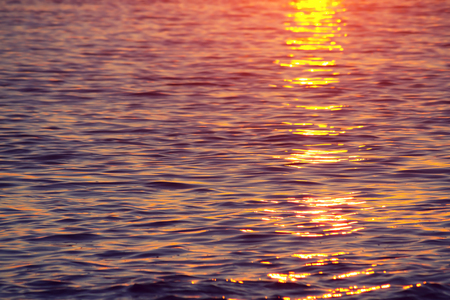 Water reflection at Sunset Laguna Beach California Stock Photo