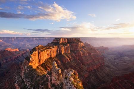 sky cloud: Wotans Throne, Cape Royal at Sunset, Grand Canyon North Rim, AZ
