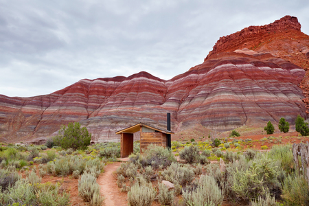 ghost rock: Colorful mountains at Paria townsite in Grand Staircase Escalante National Monument, UT. Stock Photo