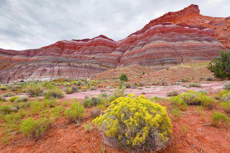 ut: Colorful mountains at Paria townsite in Grand Staircase Escalante National Monument, UT. Stock Photo