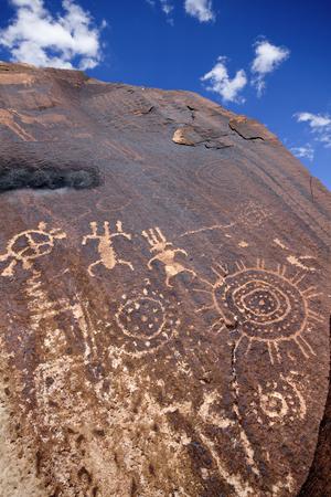 ut: Ancient Native American Petroglyphs, Little Black Mountain Petroglyph Site near St. George, UT