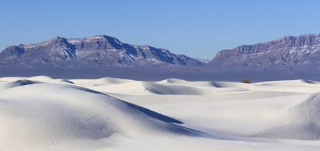 chihuahua desert: White Sand Dunes and San Andres Mountains, White Sands National Monument, New Mexico