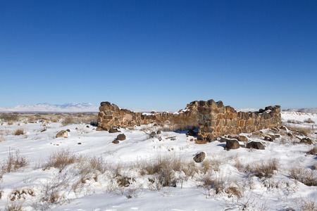 guard house: Fort Craig Guard House Ruin in Winter, New Mexico