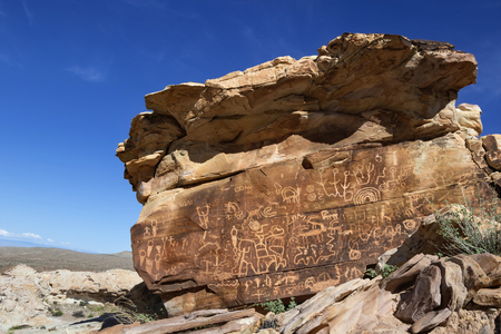 Newspaper rock petroglyphs in Gold Butte area, Nevada