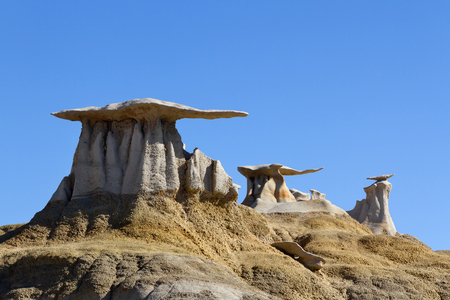mudstone: Stone Wings rock formation  Bisti Wilderness Area, New Mexico Stock Photo