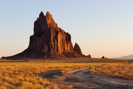 four peaks wilderness: Shiprock at Sunrise, New Mexico