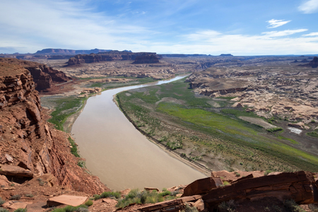 Viewing Colorado river from Hite Overlook, Glen Canyon National Recreation Area, UT