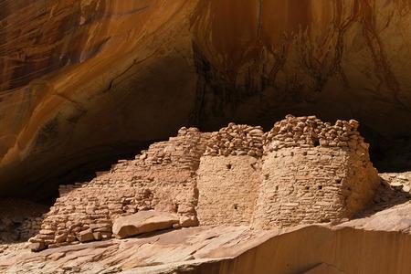 Butler Wash, Comb Ridge, Utah의 바둑굴 동굴 폐허