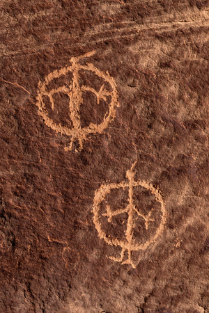 Anthropomorphic figure petroglyphs in Nine Mile Canyon, Utah