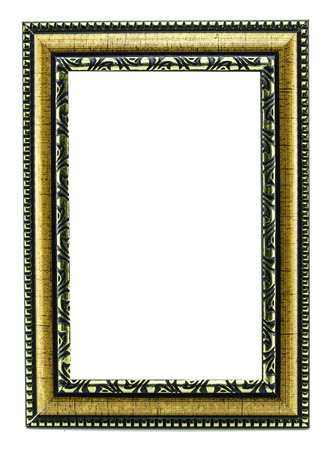 gold picture frame  isolated on white photo
