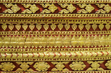 encountered: Pattern is encountered in Thailand temple Thailand. Stock Photo
