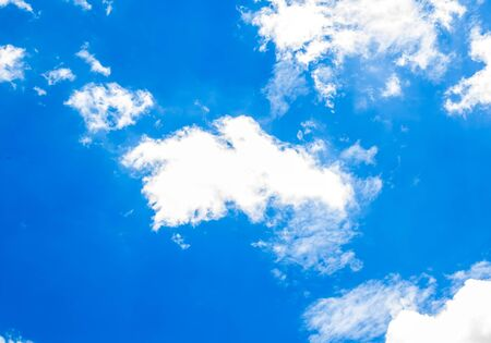 could: blue sky with white could