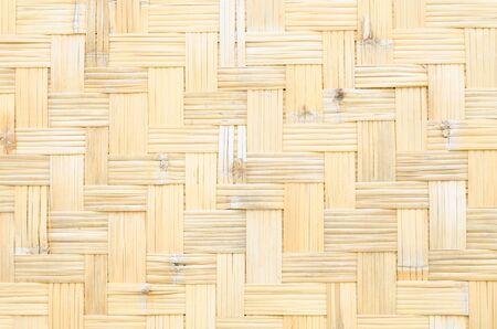 rattan mat: close up woven bamboo pattern Stock Photo