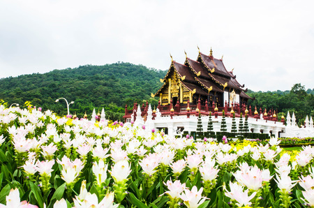lanna: architecture in the Lanna style, Chiang Mai, Thailand