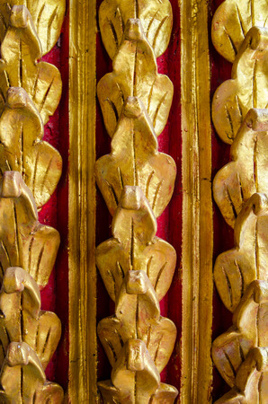 thailand temple: Pattern in Thailand temple Thailand. Stock Photo