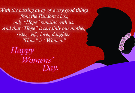 Happy Womens Day Quotes Stock Photo
