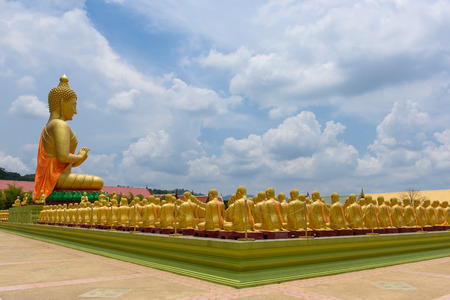 puja: Buddha image of Lord buddha among the 1,250 monks, the symbol of Magha Puja day Editorial