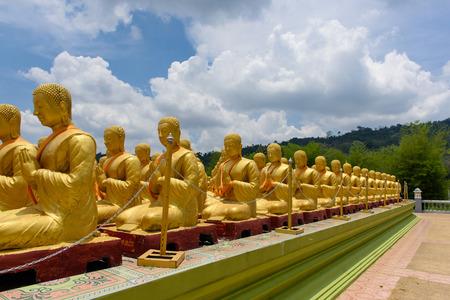lord buddha: Buddha image of Lord buddha among the 1,250 monks, the symbol of Magha Puja day Editorial