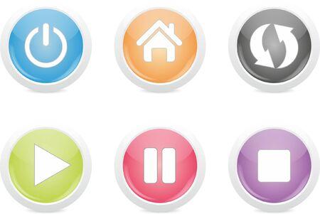 favorite colour: set of buttons
