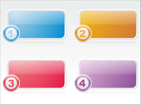 Three glass icons of different flowers for a  web design Stock Vector - 16275408