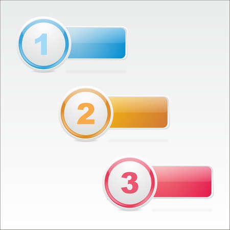 Three glass icons of different flowers for a  web design Stock Vector - 16275407