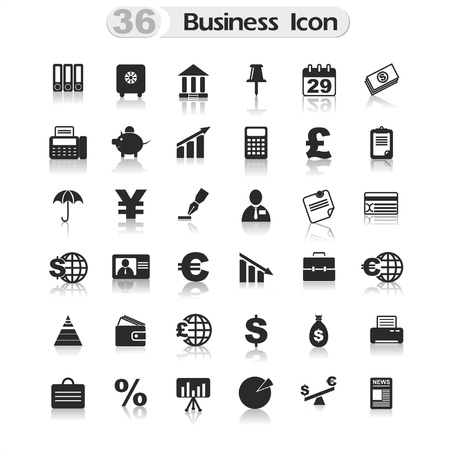 credit report: set of icons for design Illustration