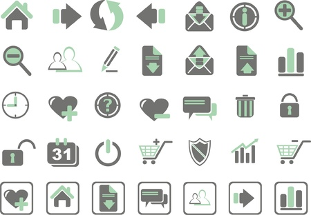 set web of icons
