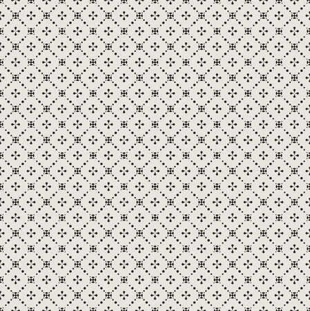 Seamless geometric pattern. Texture with crosses and flowers. vector Illustration