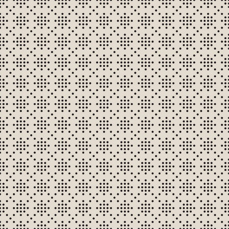 Modern seamless geometric pattern. The texture of the points in the form of snowflakes and stars. vector Illustration
