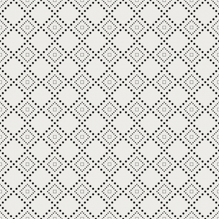 Modern seamless pattern. Texture with geometric shapes composed of pixels. Vector.