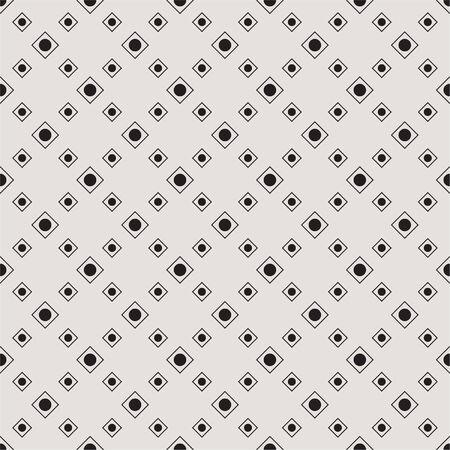 Seamless geometric pattern with dots within a diamond