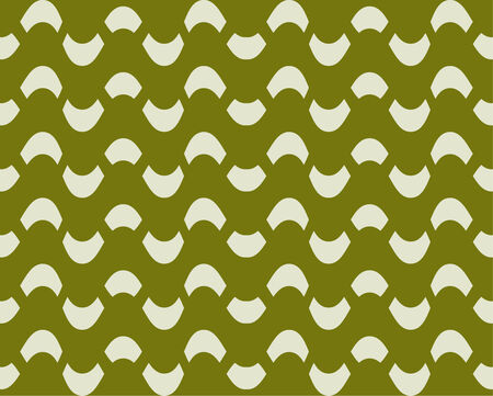 intermittent: Seamless pattern with intermittent heterogeneous snake on a green background. Vector.